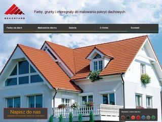 Odśwież pokrycie domu specjalna farbą dachową