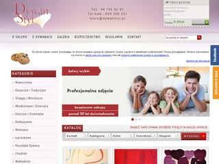 Sklep internetowy oferujący dywany beżowe