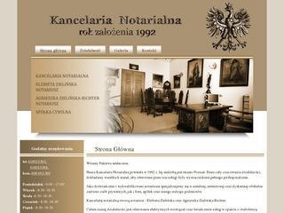 Kancelarie notarialne w Poznaniu – witryna internetowa